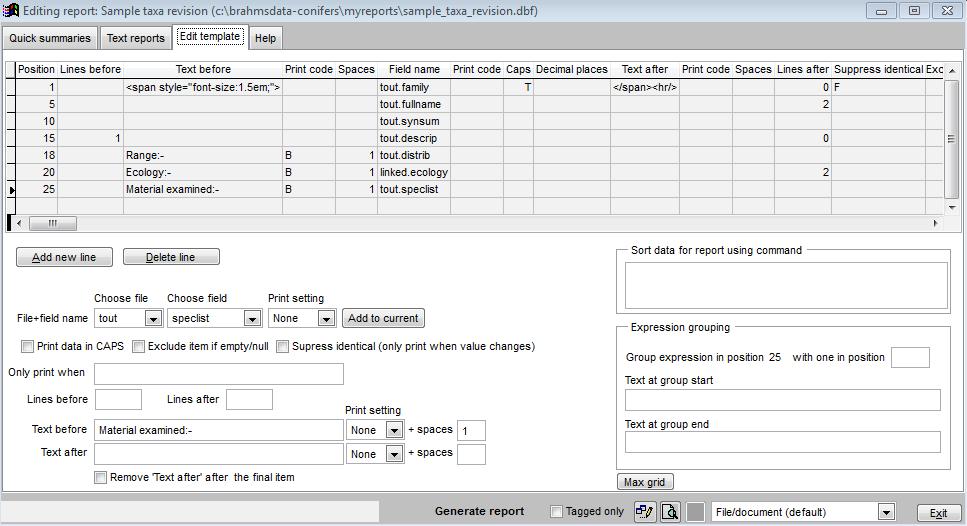 BRAHMS database: BRAHMS v7 help file - BRAHMS Online